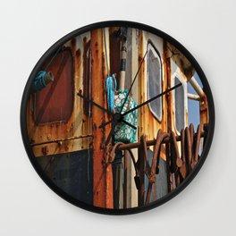 Rusty Anchors Wall Clock