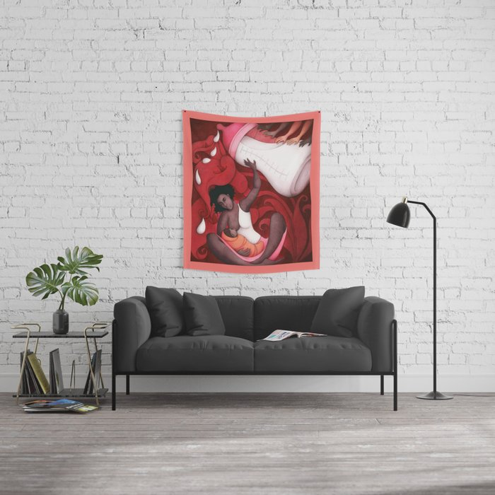 Breastfeeding and African-American Women Wall Tapestry