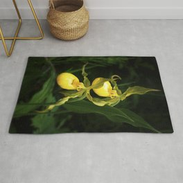 Yellow Lady Slippers Rug