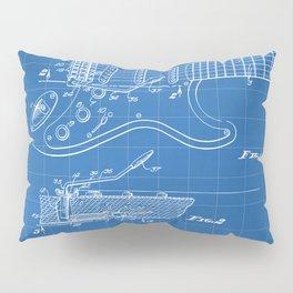 Guitar Tremelo Patent - Guitarist Art - Blueprint Pillow Sham