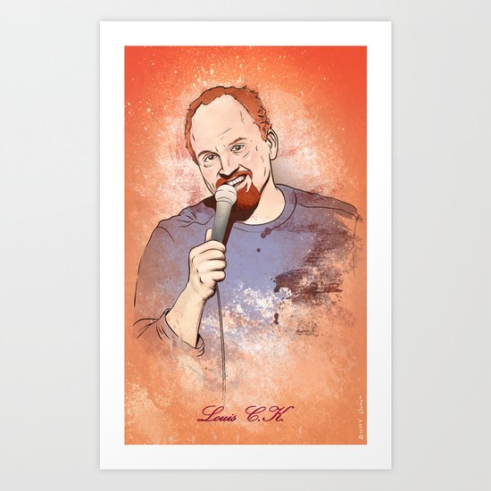Make Me Laugh - Louis CK Art Print