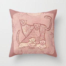 Family Cheetahs Throw Pillow