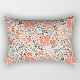 Mongolian Expanse Pattern Rectangular Pillow