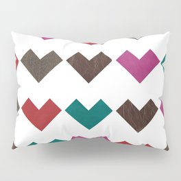 leather geometric love on white Pillow Sham