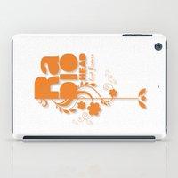 "radiohead iPad Cases featuring Radiohead ""Last flowers"" Song / Orange version by LilaVert"