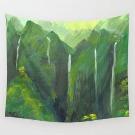 Ko'olau waterfalls Wall Tapestry