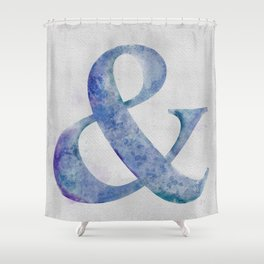 Watercolor Ampersand Shower Curtain