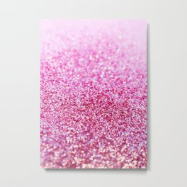Pink Mermaid Glitter Glam #1 (Faux Glitter) #shiny #decor #art #society6 Metal Print