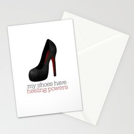 My Shoes Have Heeling Powers Stationery Cards