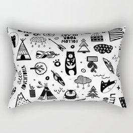 Wild And Free, Scandinavian Kids Rectangular Pillow