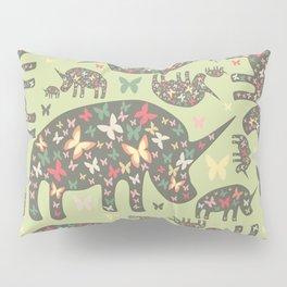 Rhinos Pattern Pillow Sham