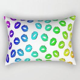 kiss mouth lips colors Rectangular Pillow