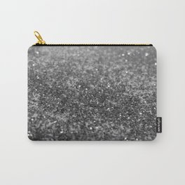 Silver Gray Black Glitter #2 (Faux Glitter - Photography) #shiny #decor #art #society6 Carry-All Pouch
