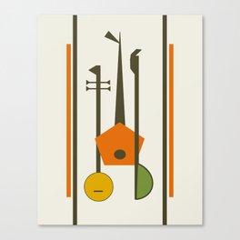 Mid-Century Modern Art Musical Strings Canvas Print