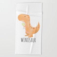 Winosaur | White Wine Beach Towel