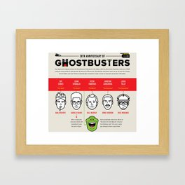 30th Anniversary Ghost Busters Framed Art Print