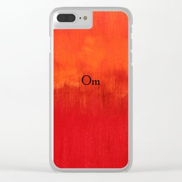 Om Clear iPhone Case
