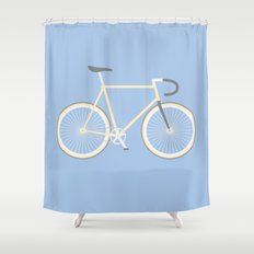#97 bike Shower Curtain
