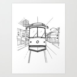 toronto streetcar Art Print