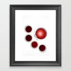 Wine Decanter And Glasses Framed Art Print