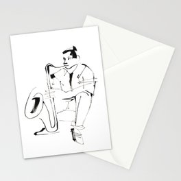 Saxophone Player Musician Stationery Cards
