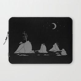 Moon Over Three Graces Grey on Black Laptop Sleeve
