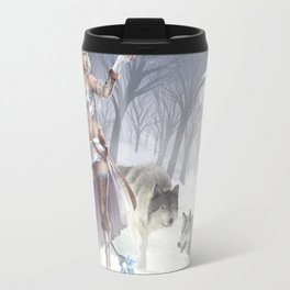Dance with the wolves Travel Mug