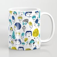 faces Mugs featuring Faces by Sahily Tallet Yip