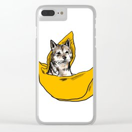 Peanut sailing in his banana boat Clear iPhone Case