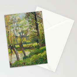 "Camille Pissarro ""Bords De Lepte A Eragny, Soleil Couchant""1897 Stationery Cards"
