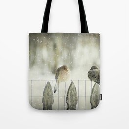Weathering the Snow Tote Bag