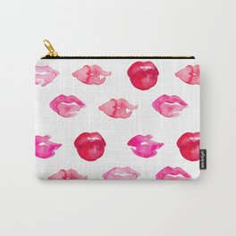 watercolor lips Carry-All Pouch