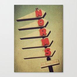 Norm's  Canvas Print