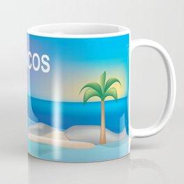 Turks and Caicos - Skyline Illustration by Loose Petals Coffee Mug