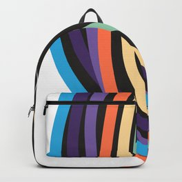 Tangle of color - black beauty Backpack
