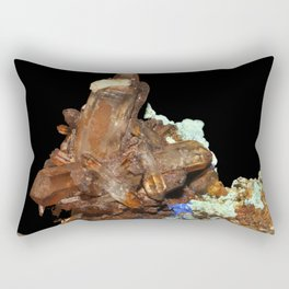 Quartz oxydé, azurite et malachite Rectangular Pillow