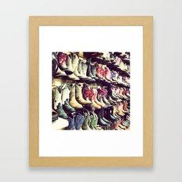 Boot wall Framed Art Print