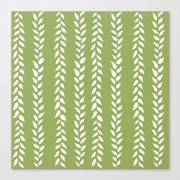 Sap Vines - nature spring leaves green pattern Canvas Print