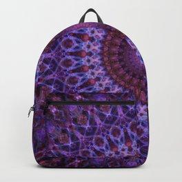 Mandala in blue,pink and purple tones Backpack