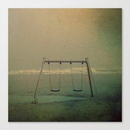 Forgotten swings Canvas Print