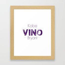 VINO (Purple) Framed Art Print