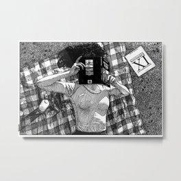 asc 762 - Le dernier jour de l'été indien (Reading for Indian summer) Metal Print