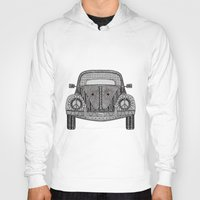 volkswagon Hoodies featuring Tangled VW Bug by Cherry Creative Designs