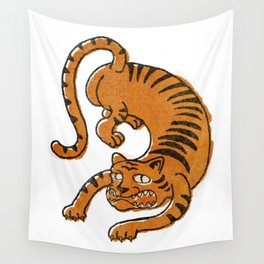 vintage offset poorly drawn classic tiger tattoo Wall Tapestry
