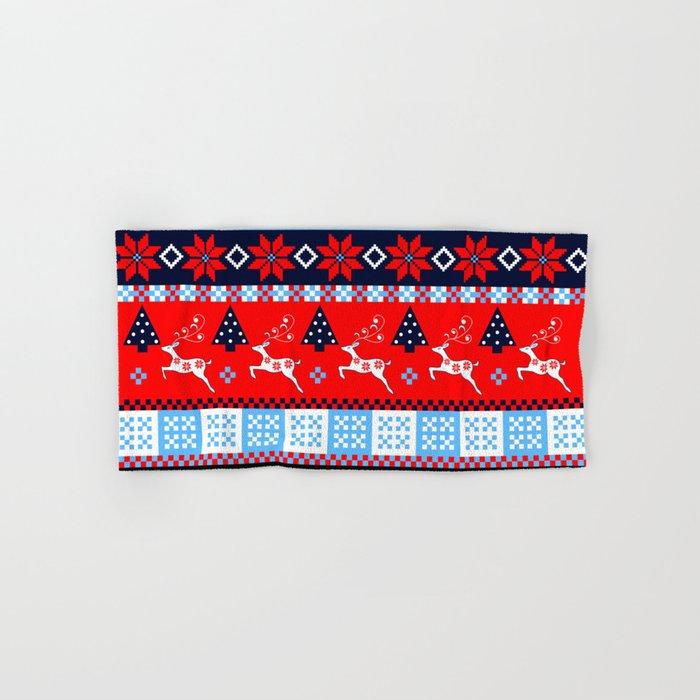 Scandinavian holidays pattern design Hand & Bath Towel