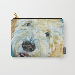 Stanley the Goldendoodle Dog Portrait Carry-All Pouch