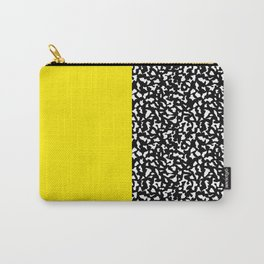 Memphis Black and Yellow 80s Pattern Carry-All Pouch