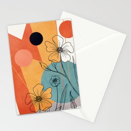 Vibrant Flower Design 2 Stationery Cards