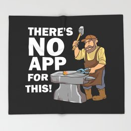 Blacksmith Design: There's No App For This I Steel Workshop Throw Blanket