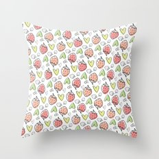 Pattern: Strawberries & Hearts Throw Pillow